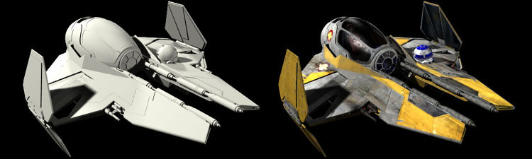 Untextured Jedi starfighter
